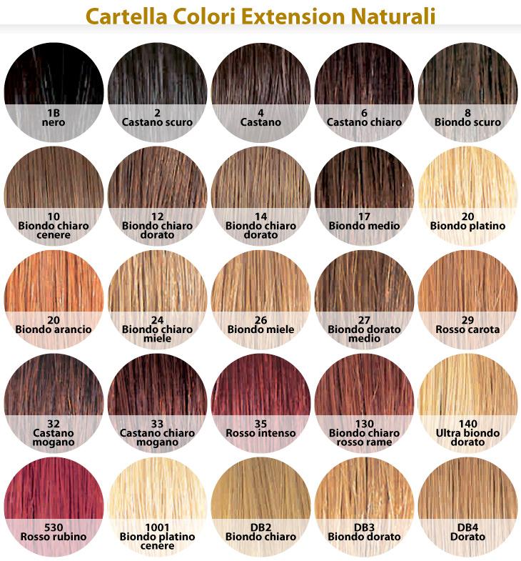 Favoloso Extension : Ciocche Extension Capelli Naturali - Colori Naturali BV07
